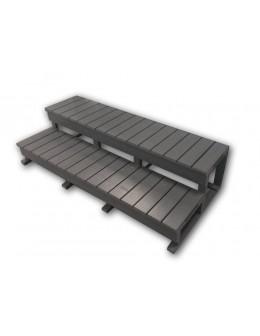 Standardní schody pro vířivky – šedivé